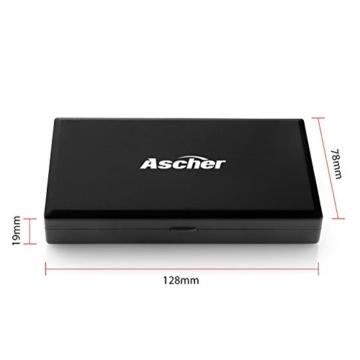 200g/0,01g Taschenwaage - Ascher Digitale Taschenwaage, 200 x 0,01 g, Taschenwaage Feinwaage Digitalwaage Goldwaage Münzwaage - 3