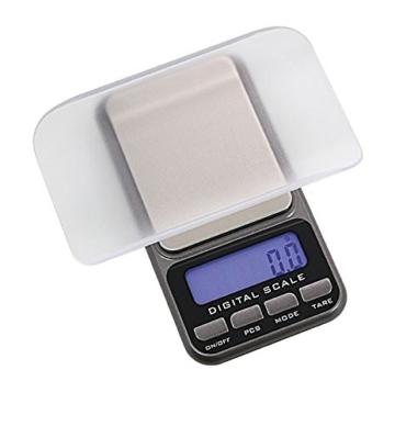 Digital Taschenwaage 0,1 / 1000 Gramm [Lindner 8047], Präzision bis 0,1g, Wägebereich max. 1000 g - 2