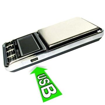 DIPSE USB 200 - Digitale Feinwaage / Taschenwaage mit USB-Anschluss ohne Abschaltautomatik die in 0,01g Schritten präzise bis 200g wiegt - 2