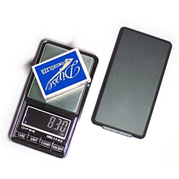 DIPSE USB 200 - Digitale Feinwaage / Taschenwaage mit USB-Anschluss ohne Abschaltautomatik die in 0,01g Schritten präzise bis 200g wiegt - 3