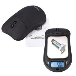 ELEGIANT Professional 200g 0.01g Mini Digitalwaage Taschenwaage tragbare elektronische Kabellose Maus geformte Schmuckwaage Feinwaage Goldwaage Briefwaage Schmuck Digital Jewelry Scale Gramm g/oz/tl/gn/ozt/dwt/ct - 1