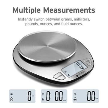 Etekcity 5KG Digitale Küchenwaage, Digitalwaage, Elektronische waage, Hohe Präzision auf bis zu 1g (5kg Maximalgewicht), Tara-Funktion, aus Edelstahl mit Großem LCD-Display - 2