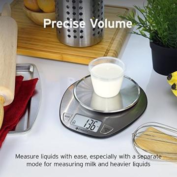 Etekcity 5KG Digitale Küchenwaage, Digitalwaage, Elektronische waage, Hohe Präzision auf bis zu 1g (5kg Maximalgewicht), Tara-Funktion, aus Edelstahl mit Großem LCD-Display - 4