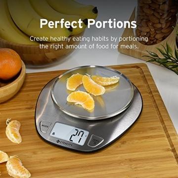 Etekcity 5KG Digitale Küchenwaage, Digitalwaage, Elektronische waage, Hohe Präzision auf bis zu 1g (5kg Maximalgewicht), Tara-Funktion, aus Edelstahl mit Großem LCD-Display - 6