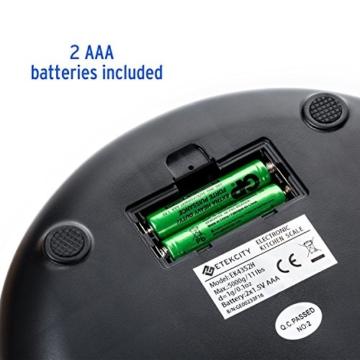 Etekcity 5KG Digitale Küchenwaage, Digitalwaage, Elektronische waage, Hohe Präzision auf bis zu 1g (5kg Maximalgewicht), Tara-Funktion, aus Edelstahl mit Großem LCD-Display - 7
