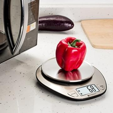 Etekcity 5KG Digitale Küchenwaage, Digitalwaage, Elektronische waage, Hohe Präzision auf bis zu 1g (5kg Maximalgewicht), Tara-Funktion, aus Edelstahl mit Großem LCD-Display - 8