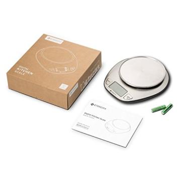 Etekcity 5KG Digitale Küchenwaage, Digitalwaage, Elektronische waage, Hohe Präzision auf bis zu 1g (5kg Maximalgewicht), Tara-Funktion, aus Edelstahl mit Großem LCD-Display - 9
