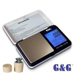G & G TS-WB+G 300g/0,01g + Kalibriergewicht Taschenwaage Feinwaage Digitalwaage Goldwaage Münzwaage - 1