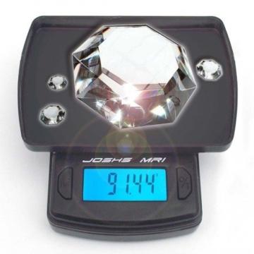 Joshs Digitalwaage Feinwaage die in 0,01 g Schritten präzise bis 100g wiegt, Taschenwaage, Briefwaage, Goldwaage, Tischwaage mit Edelstahl Wiegefläche - 2