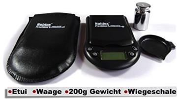 Nohlex 500g/0,01g + 200g Kalibriergewicht + Etui Feinwaage Digitalwaage Taschenwaage Goldwaage - 2