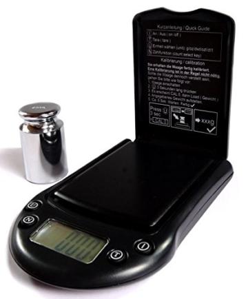 Nohlex 500g/0,01g + 200g Kalibriergewicht + Etui Feinwaage Digitalwaage Taschenwaage Goldwaage - 1