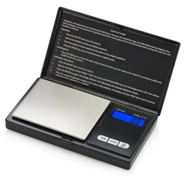 Smart Weigh SWS1KG Digitale Taschenwaage Küchenwaage Briefwaage Goldwaage 1000 x 0.1g mit LCD-Anzeige Digitale Waage - 1