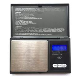 Taschenwaage, Foraco 500g/0,01g Digitale Waage Feinwaage Digitalwaage/Goldwaage/Münzwaage, Schwarz - 1