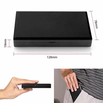 Lamker 200g/0,01g Digitale Taschenwaage Schwarz Mini Grammwaage mit Beleuchteter LCD und 7 Einheiten Feinwaage Digitalwaage Goldwaage Münzwaage Küche Waage - 7
