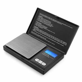 Reteck 200g/0,01g Taschenwaage - 200 x 0.01g Digitale Taschenwaage, Feinwaage, Digitalwaage Goldwaage Münzwaage mit LCD-Anzeige for Tabletten,Schmuck und vieles mehr - 1