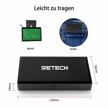 Reteck 200g/0,01g Taschenwaage - 200 x 0.01g Digitale Taschenwaage, Feinwaage, Digitalwaage Goldwaage Münzwaage mit LCD-Anzeige for Tabletten,Schmuck und vieles mehr - 5